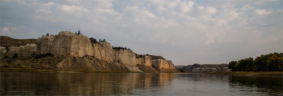 Missouri River's White Cliffs north of Lewistown