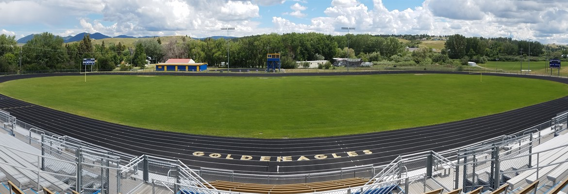 Panorama of Golden Eagle Stadium Football and Track Facilities
