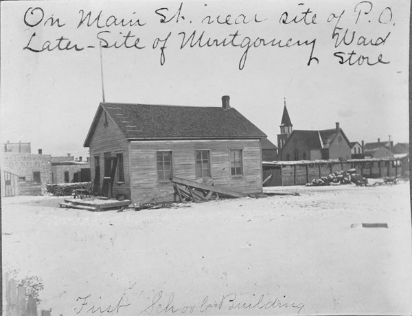 First Schoolhouse in Lewistown